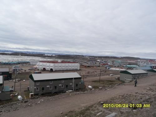 北极小镇 Iqaluit全景,2010年6月24日
